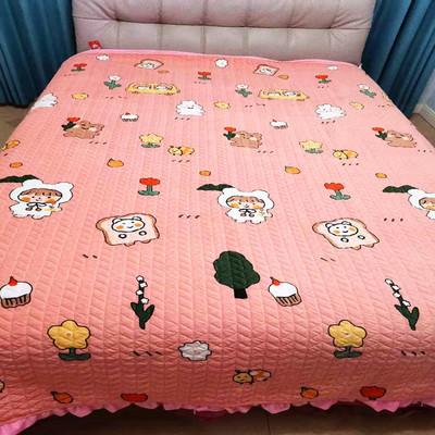 YMHY Drap giường Dày giường trải giường bao gồm một mảnh tinh thể mùa thu và mùa đông mới hàn quốc ấ