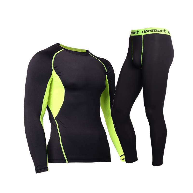 PUNUOTAI Men's pro sports tight suit running training basketball fitness suit compression pants