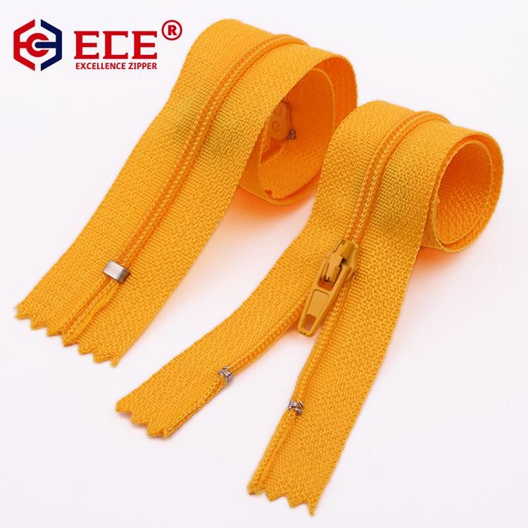 ECE No.3 nylon zipper trousers placket zipper pocket closed zipper for home textile