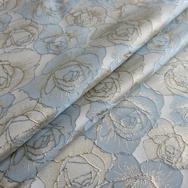YONGXIU Spot supply yarn dyed gold silk jacquard fabric yx8675 three dimensional concave convex feel