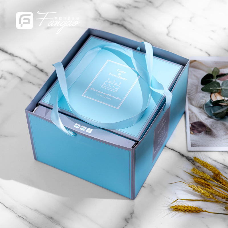 Baking packaging 68 10 12 inch high-end pastry box birthday high-grade hand-held cake box