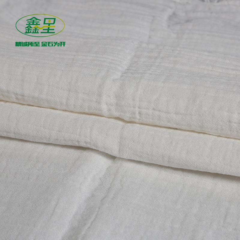 XINXING All cotton combed double layer sand washed crepe white grey cloth retro home clothing fabric