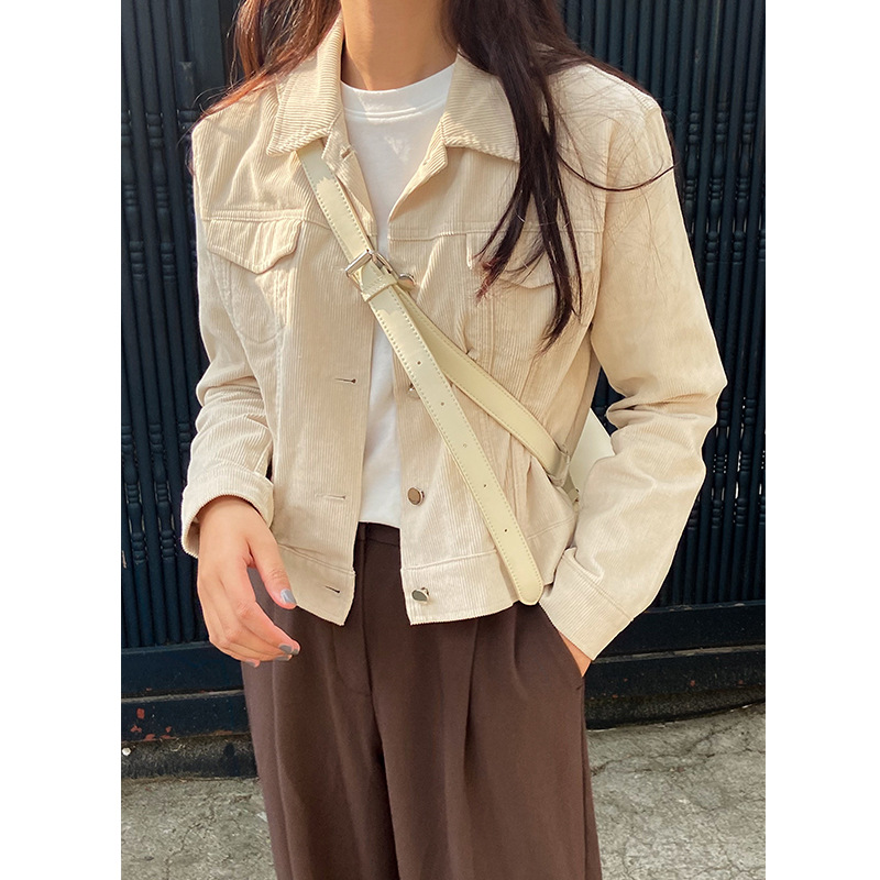 Acme Ground Autumn and winter Corduroy Jacket Women's versatile tooling short student Long Sleeve J