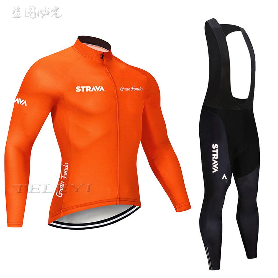 Bộ đồ dài tay dành cho đua xe đạp với chất thun thoải mái .