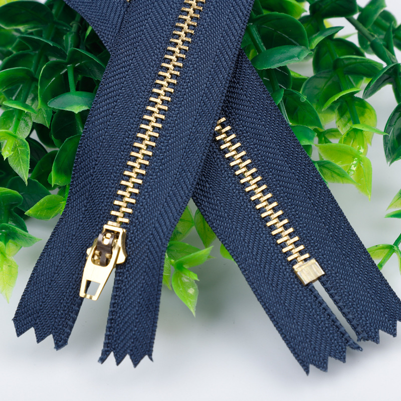 AYY Zipper 4 Brass Metal zipper spring head closed tail pants placket zipper jeans zipper