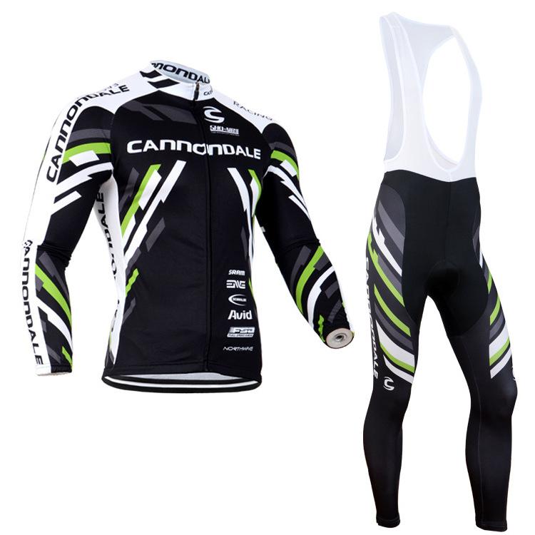 Bộ đồ thể thao đi xe đạp kiểu dáng quần dài + áo dài tay cho nam