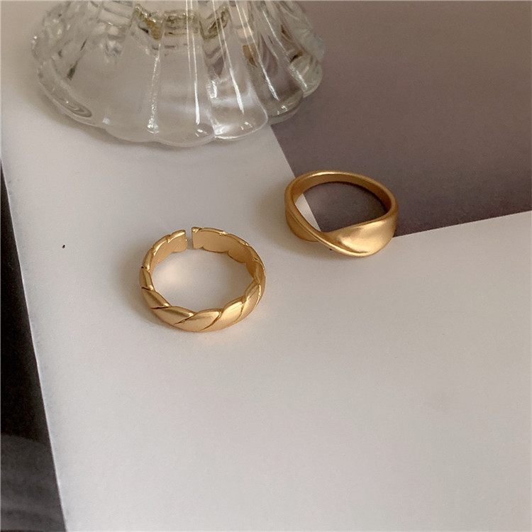 LAIMEIJIN Jewelry Korean fashion trend cool style simple ring ins fashion net red temperament beauti