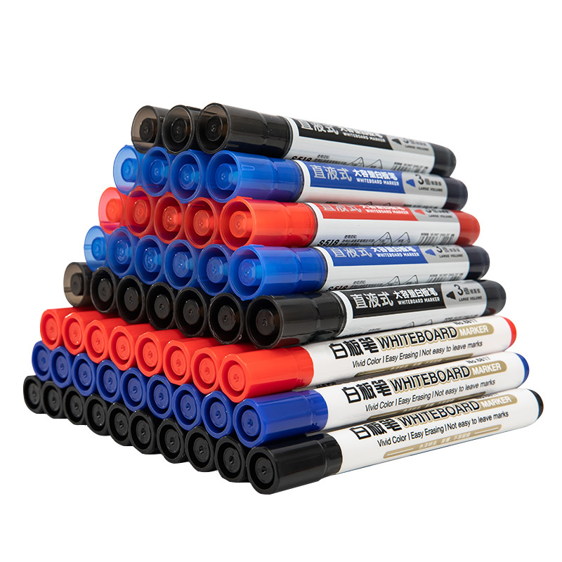 Deli stationery large capacity whiteboard pen black water-based erasable red blue whiteboard writing