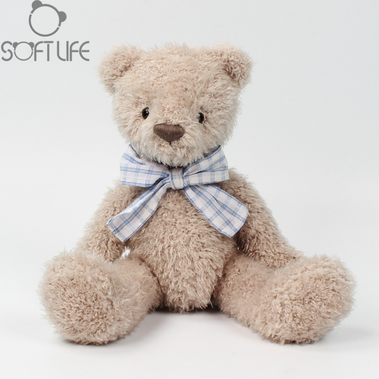 Soft life New gentleman bear comfort doll children Girls Birthday Gift plush toy bow tie bear doll