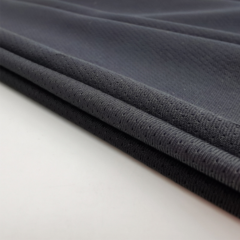 ZHS Stretch mesh hy weft knitted pinhole elastic fabric skin friendly knitted sports fabric