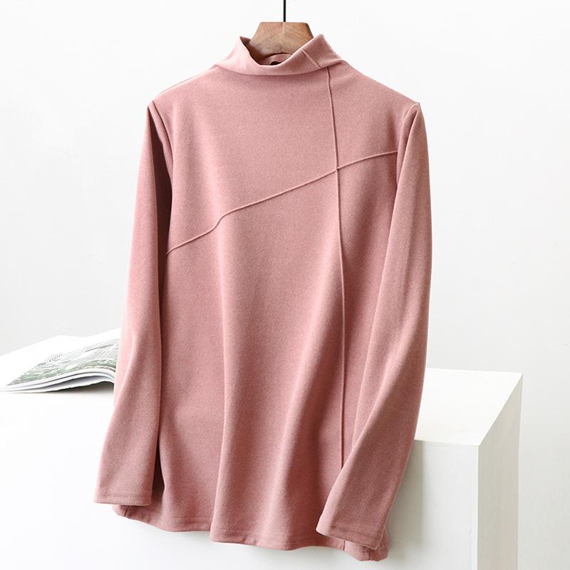 Áo thun lạnh cổ cao dài tay dành cho nữ .