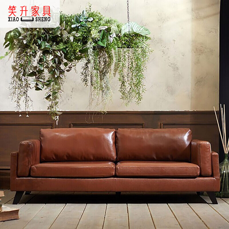 XIAOSHENG Nordic modern light luxury leather lazy simple furniture new Chinese small family corner l