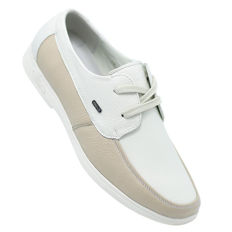 Giày mọi Da mềm đế thấp kiểu dáng đơn giản cho nam .