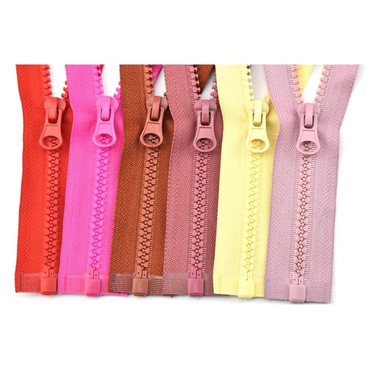 KD No.5 resin zipper single open tail women's long down jacket coat pocket zipper accessories cloth