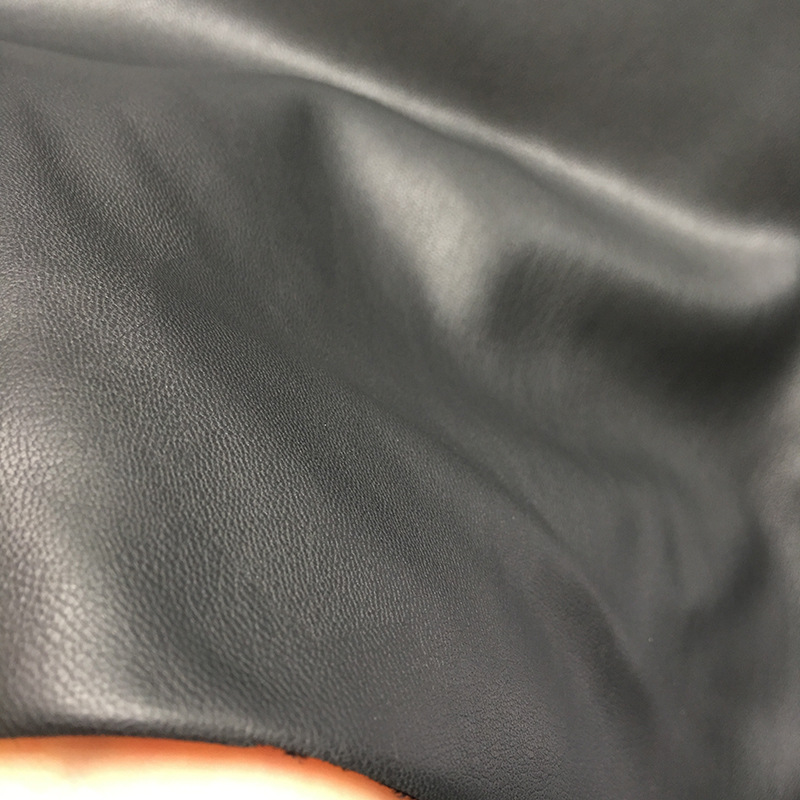 Black Napa pattern artificial leather sheepskin pattern super fiber leather material PU leather fabr