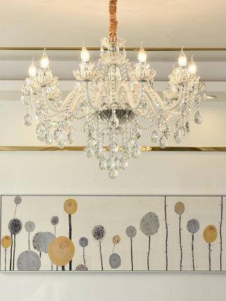 Tianlei Bóng đèn nến Đèn chùm pha lê châu Âu phòng khách phòng ăn phòng ngủ ấm áp không khí ánh sáng