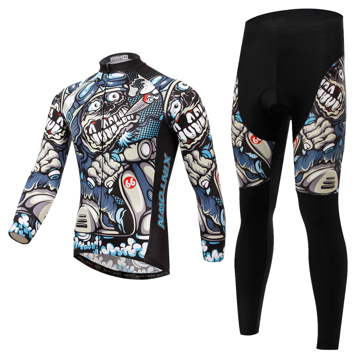 Xintown Stormtrooper cycling suit long sleeve bicycle suit fleece windproof warm functional pants