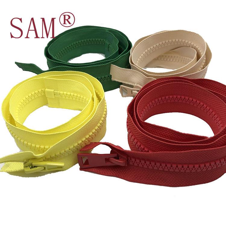 SAM No.3, No.5, No.8, automatic head, resin zipper, resin clothes zipper and rubber teeth zipper