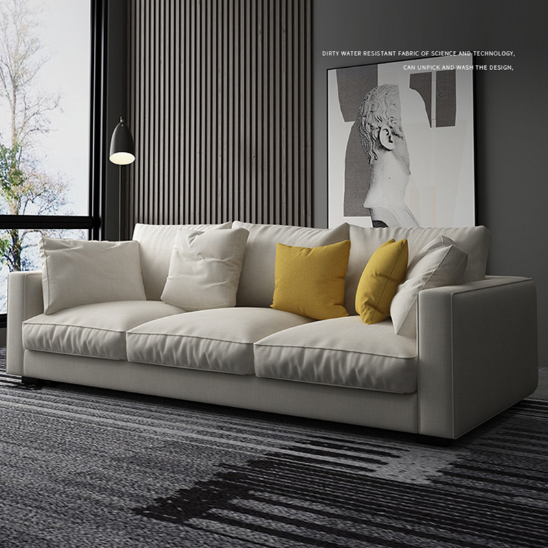 SIWEIMEI Modern simple Nordic science and Technology cloth sofa small family combination living room