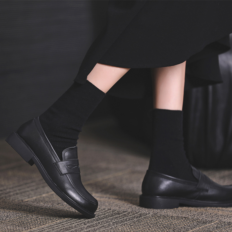 Women's shoes in small leather shoes, top of the British fashion, single leather shoes, 2021 new st
