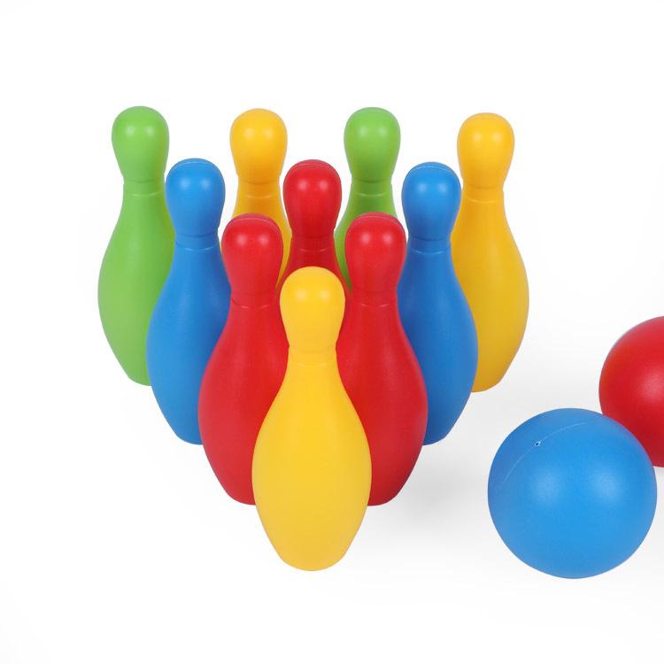 Đồ chơi bowling bằng nhựa nhiều màu dành cho bé .