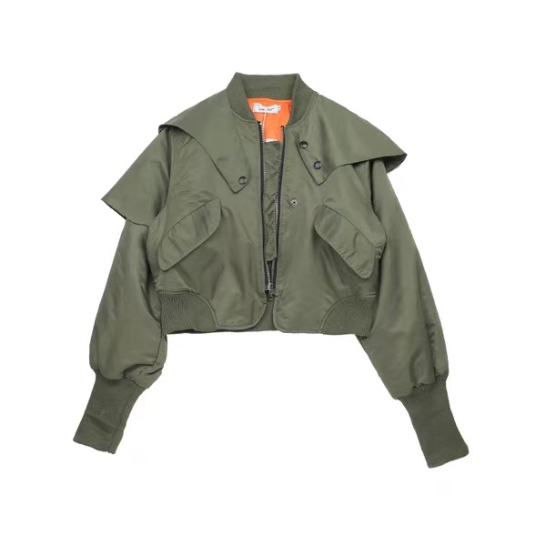 2019 new Korean women's casual green cotton padded jacket short women's jacket