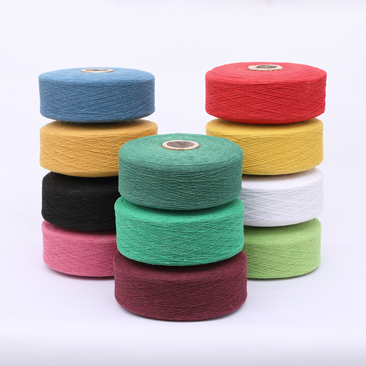 Color 4 / 5 / 6 / 6.5s count cotton yarn wholesale woven regenerated cotton yarn supply cotton yarn