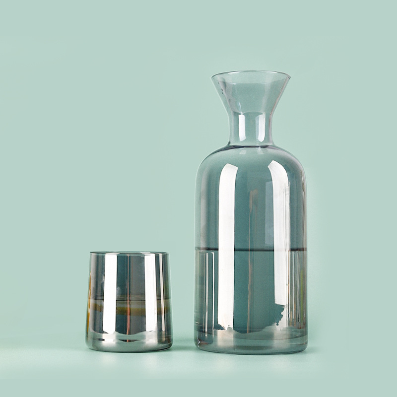 Denmark light luxury cold water bottle water cup household set pot Nordic creative glass water utens