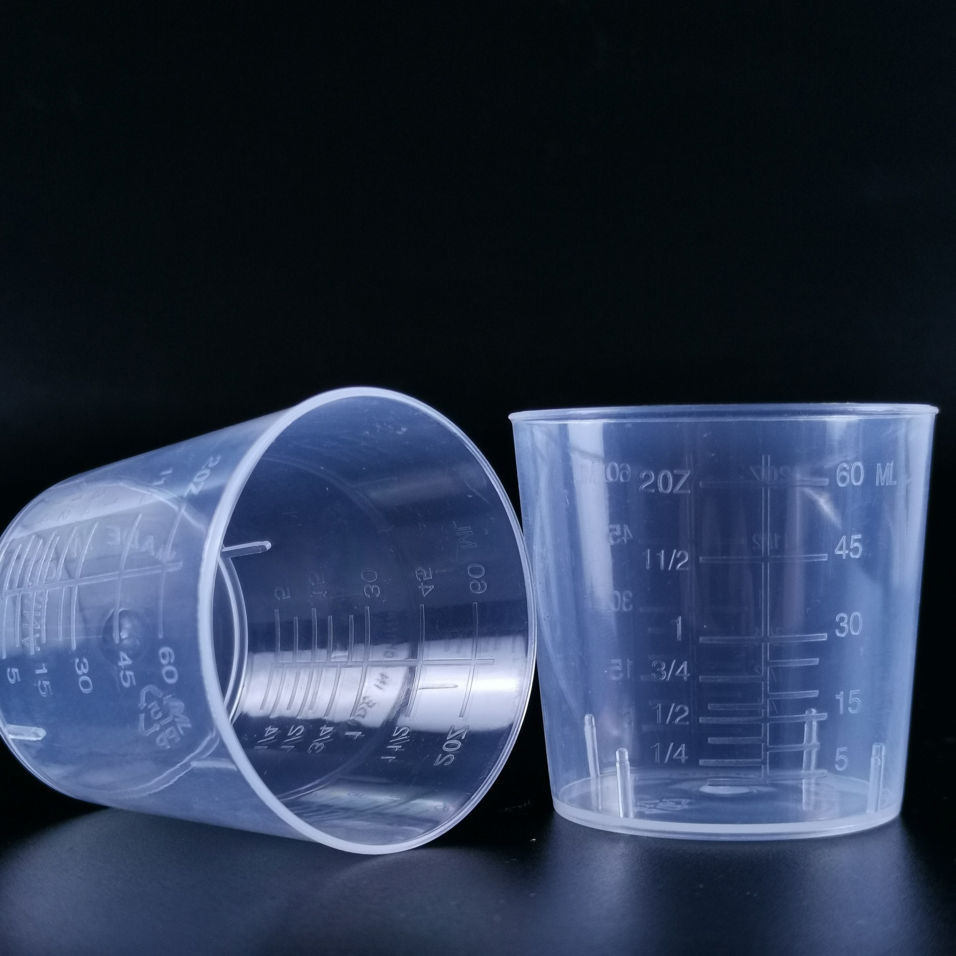 DACHEN 60 ml measuring cup plastic measuring cup laboratory utensils 60 ml measuring cup