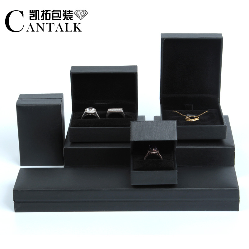 KAITUO Right angle leather Filled Jewelry Box Ring Pendant Necklace Jewelry Box Bracelet packaging