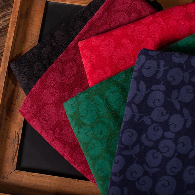 ZHONGLIAN Plant jacquard fabric women's fashion skirt Qipao clothing fabric yarn dyed cotton