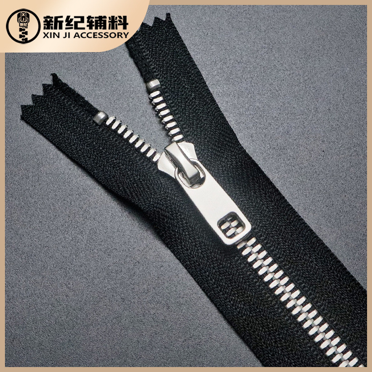 No.5 metal cloth with zipper, self-locking and closed tail can be customized zipper for garment and