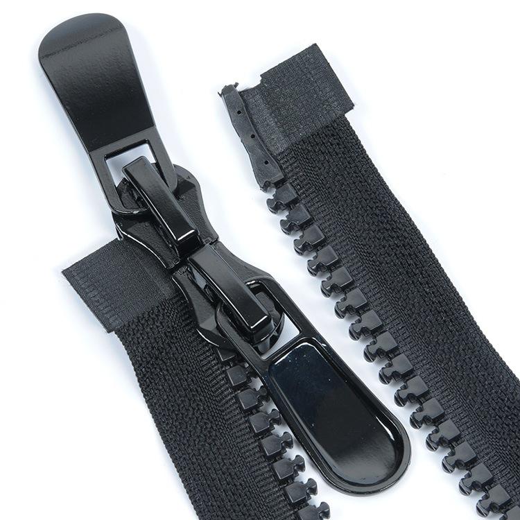 15 resin zipper double open tail zipper clothing accessories plastic zipper down coat gum zipper