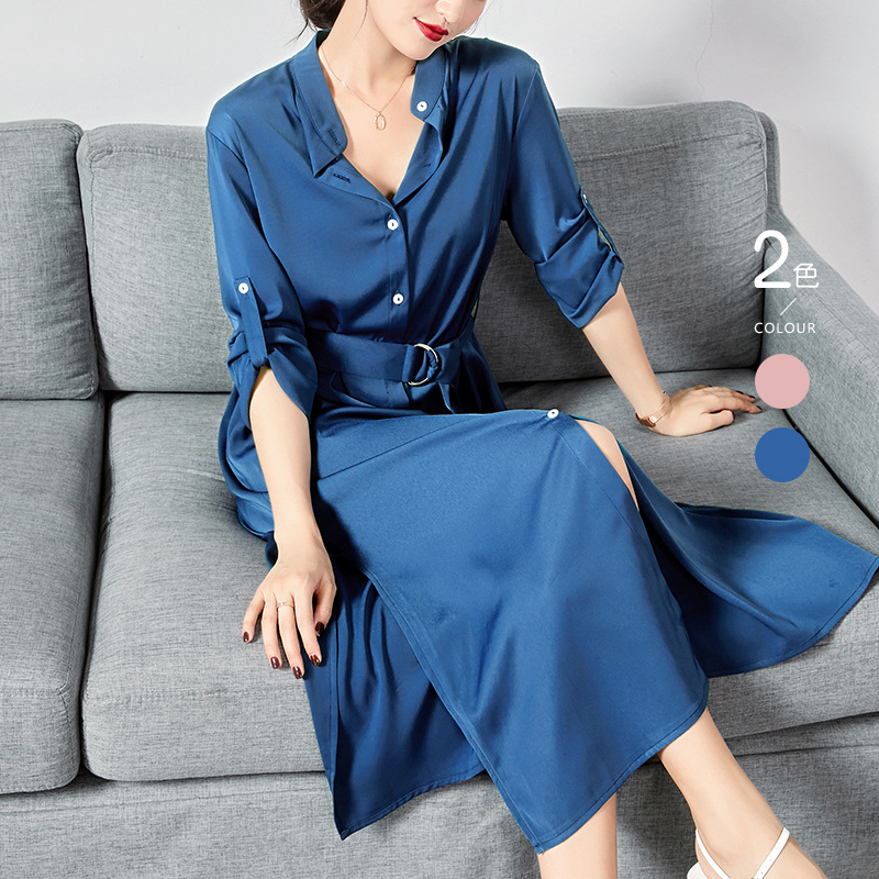 WEILILA High end elegant silk shirt with long sleeves