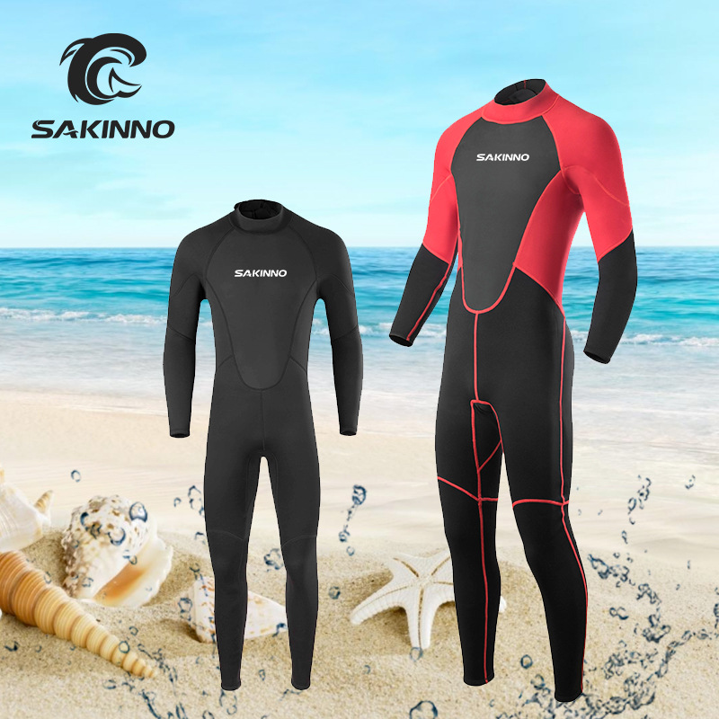 SHAKENUO Diving suit men's one-piece long sleeve quick drying diving suit warm sunscreen surfing we