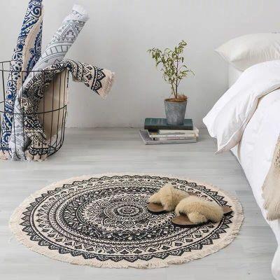Đệm chân Bắc âu ins mat quốc gia thảm thảm pad pad pad pad pad chống trượt trong phòng ngủ Bohemian