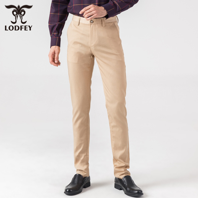 Men's straight pants business breathable and comfortable pure color casual pants t28303a2