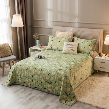 Drap giường Nhà sản xuất bán hàng trực tiếp hàn quốc sữa bông quilted giường 3 mảnh đơn giường đôi t