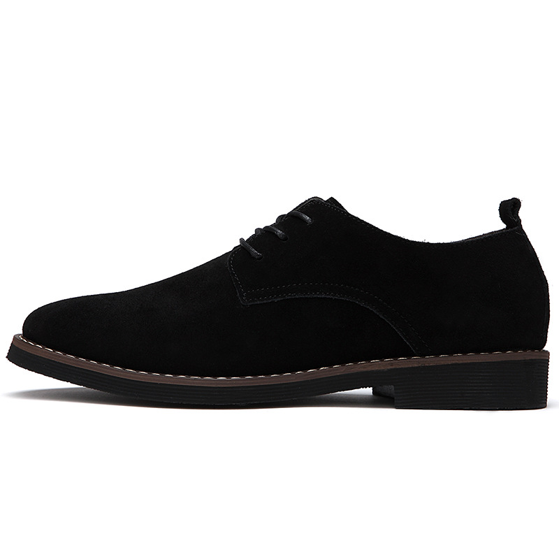 HUANGHENG Board shoes, frosted leather shoes, British style, leather, suede leather, men's shoes, l