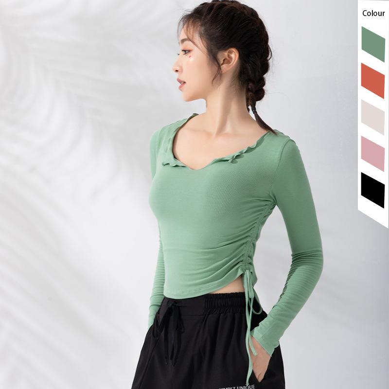 YIMRIZ New fitness suit women's long sleeve Sports Top slim running fast dry T-shirt tight autumn n