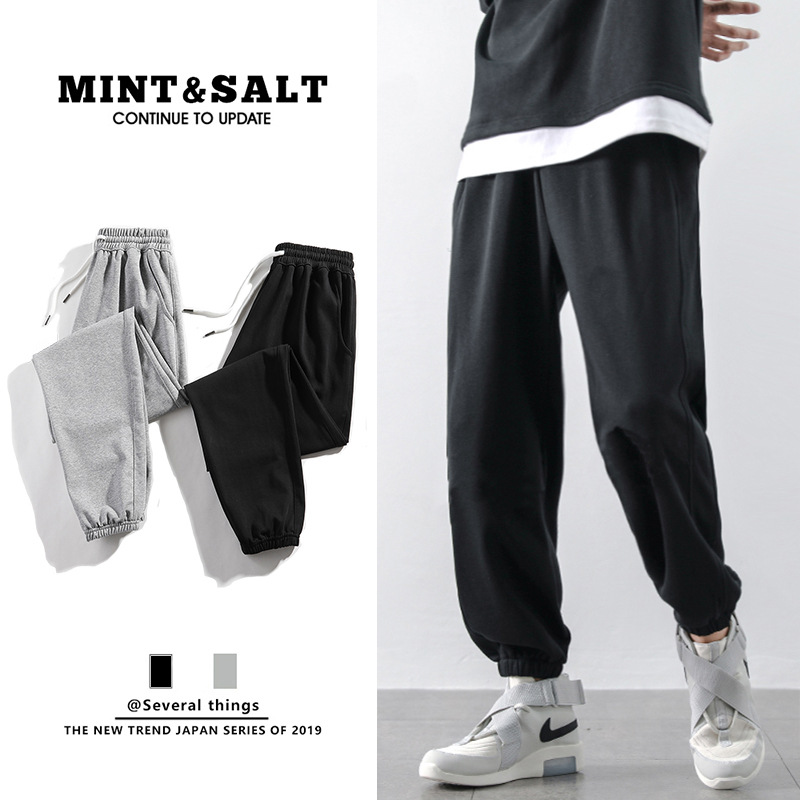 Sportswear men's Plush thickened loose corset casual pants autumn and winter pants work clothes fas