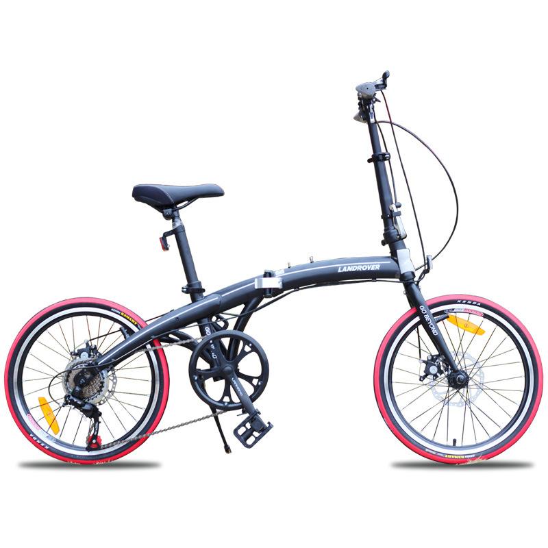 Xe đạp gấp mini siêu nhẹ 20 inch phanh đĩa trước .