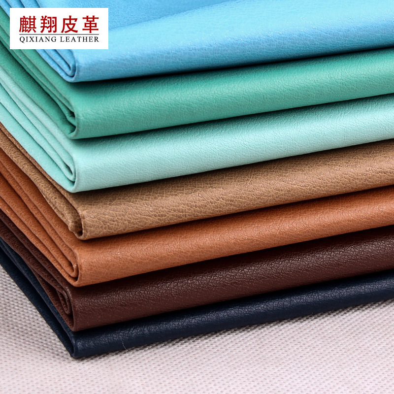 QIXIANG PU leather fabric with Spunlaced sole and artificial leather for shoe case, inner lining wit