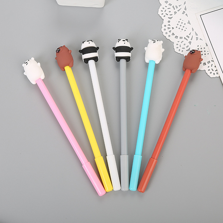 Cartoon stationery fat bear neutral pen cute student water pen creative office supplies signature pe