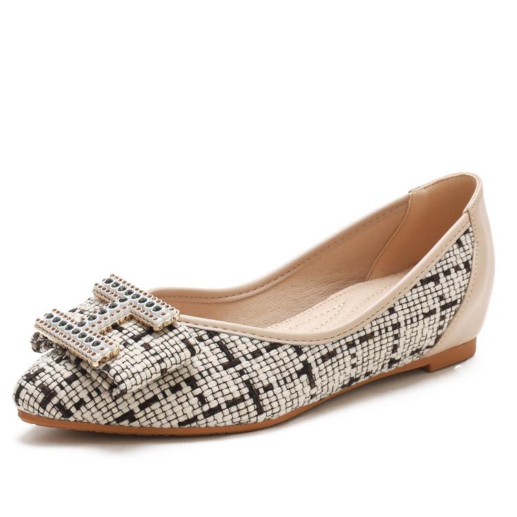 XIANGLV Doudou shoes women's autumn 2020 new soft sole comfortable mother's single shoes versatile