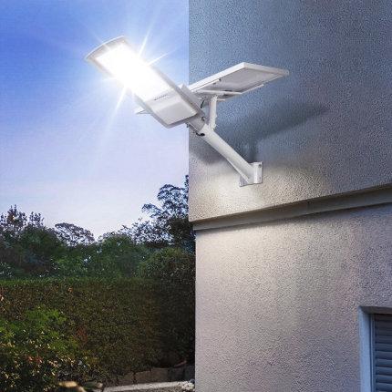 Đèn LED chiếu sáng công cộng  Trụ đèn đường năng lượng mặt trời, đèn trụ cao chống thấm ngoài trời,