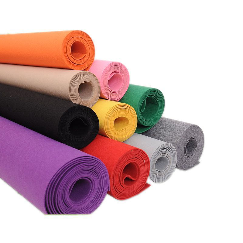 WOXIN Custom colored felt cloth non woven fabric color polyester needle punched felt printing chemic