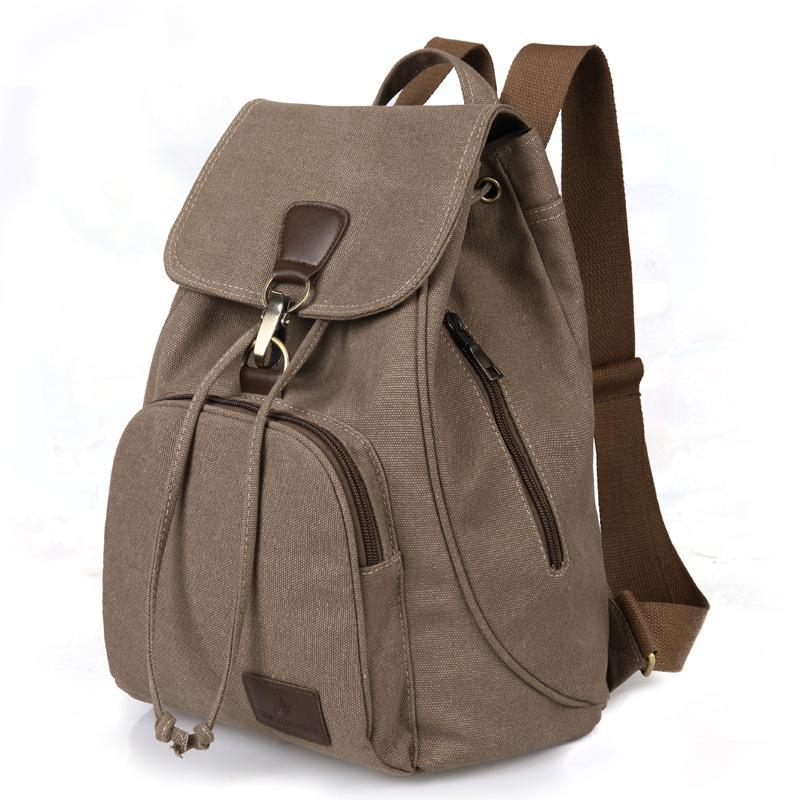 Retro fashion schoolgirl outdoor Canvas Backpack schoolbag fashion Backpack