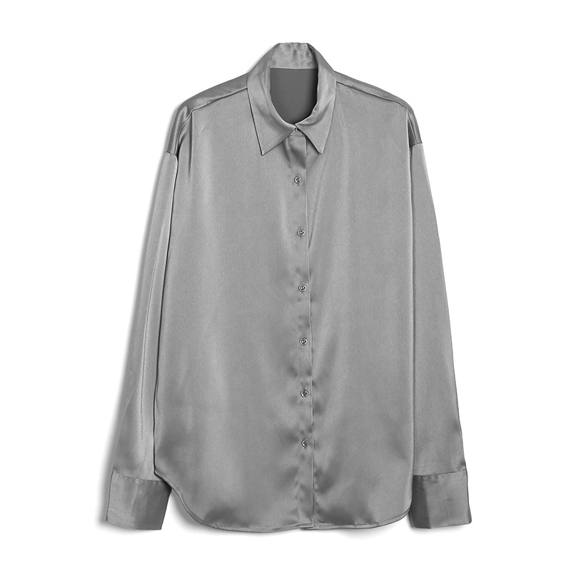 Acme ground fall / winter 2020 new Satin shirt for women