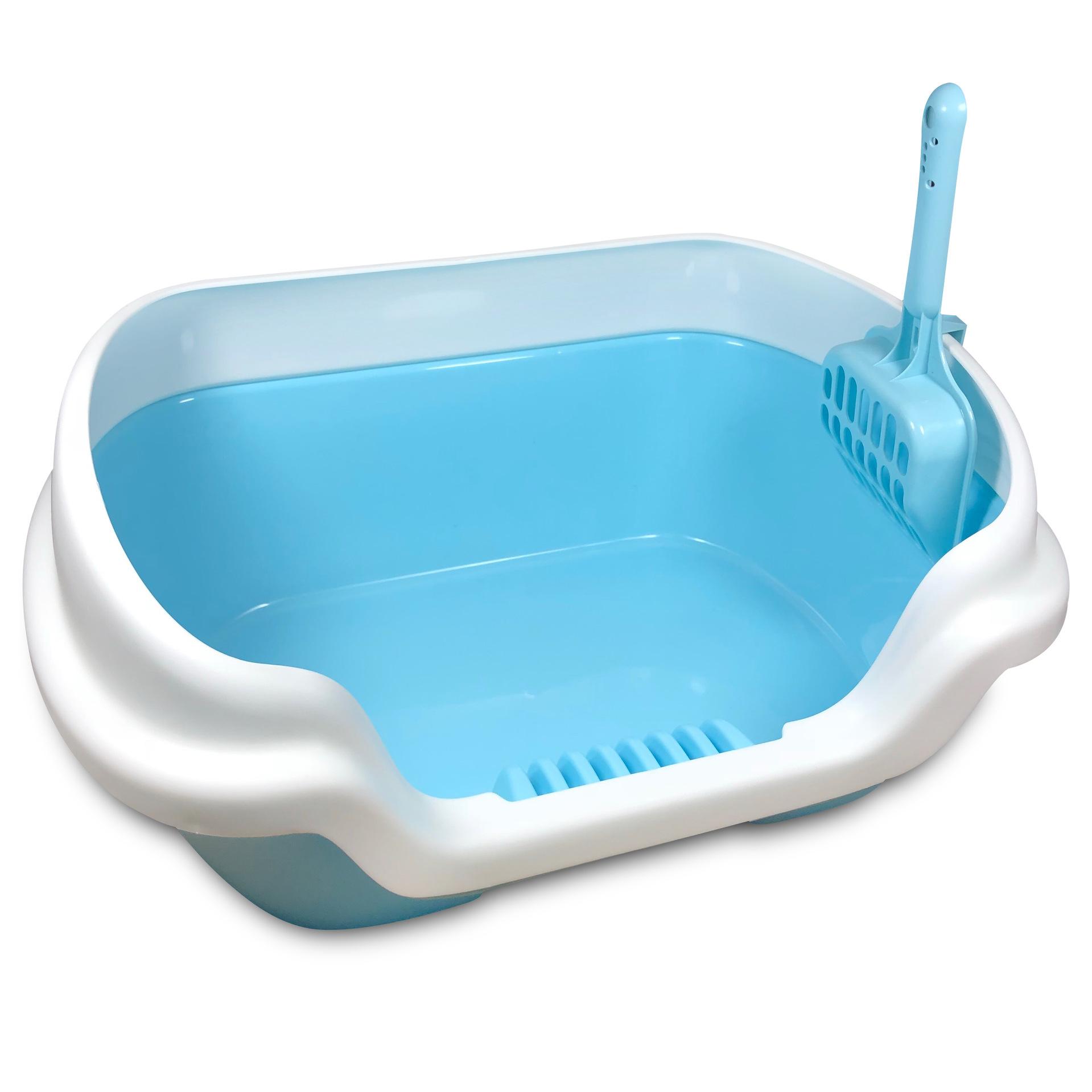 Semi enclosed design of medium size plastic cat litter basin to prevent sand leakage
